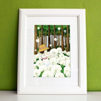 Kinderzimmerbild Pusteblumenmädchen