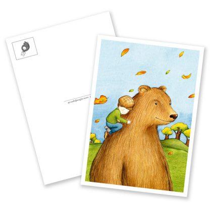"Postkarte ""Der Bärenjunge"""