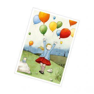"Postkarte ""Das Luftballonmädchen"""