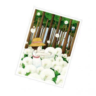 "Postkarte ""Das Pusteblumenmädchen"""
