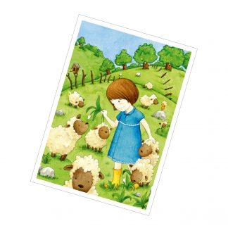 """Postkarte """"Das Schafmädchen"""""""