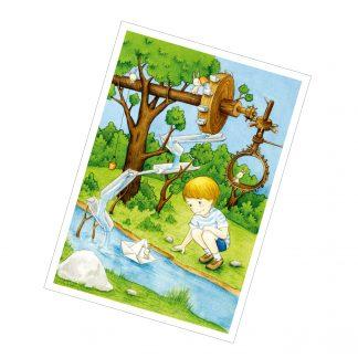 """Postkarte """"Der Wasserspieljunge"""""""