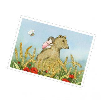 """Postkarte """"Das Weizenfeldmädchen"""""""