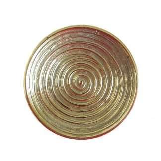 "Kerzenteller ""Spirale (goldfarben)"""