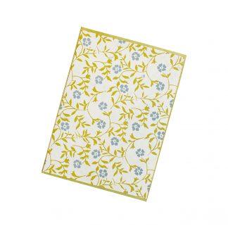 """Grußkarte """"Blütenranken (blau)"""" mit Kuvert"""