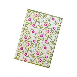 "Grußkarte ""Blütenranken (pink)"" mit Kuvert"