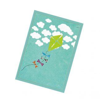 "Grußkarte ""Papierdrache"" mit Kuvert"