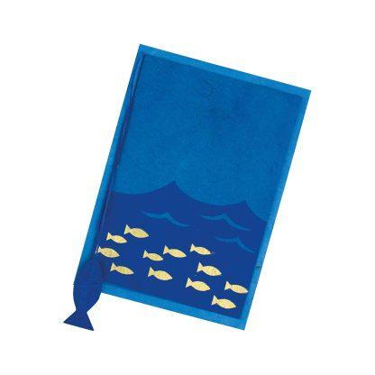 """Grußkarte """"Goldene Fischlein"""" mit Kuvert"""