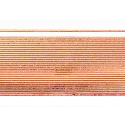 Verzierwachsstreifen Flachstreifen 1mm (kupfer)