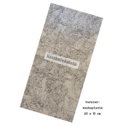 """Verzierwachsplatte """"Antiksilber"""""""
