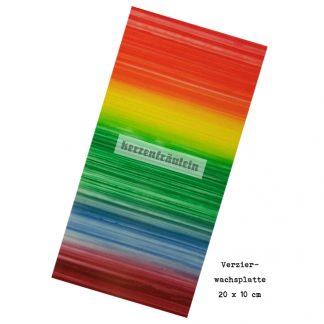 """Verzierwachsplatte """"Over the Rainbow"""""""