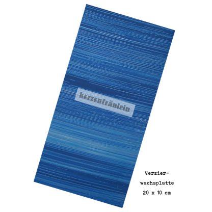 """Verzierwachsplatte """"Blue Afternoon"""""""