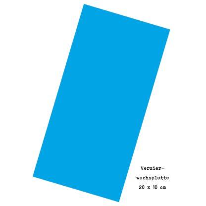"""Verzierwachsplatte """"Lichtblau"""""""