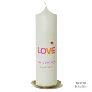 """Hochzeitskerze """"LOVE"""""""