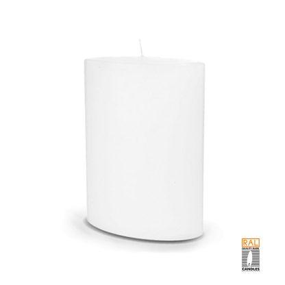 Kerzenrohling Ovalkerze (reinweiß) - 20x13 cm