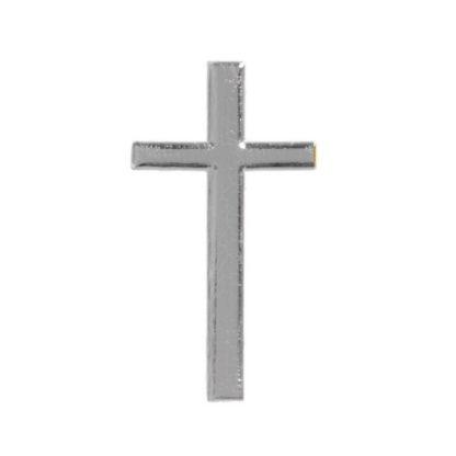 Verzierwachs Kreuz silber