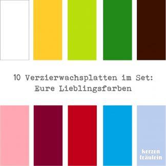 "10 Verzierwachsplatten im Set ""Eure Lieblingsfarben"""