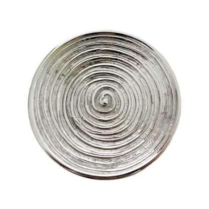 """Kerzenteller """"Spirale (silberfarben)"""""""