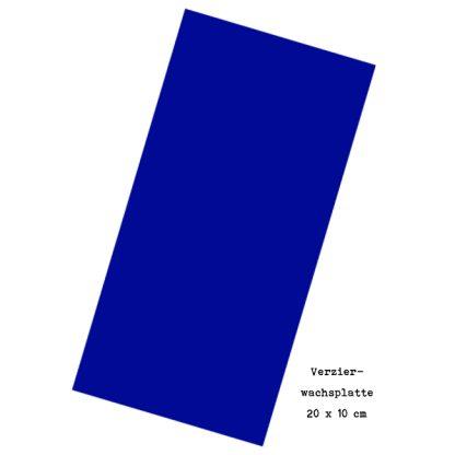 """Verzierwachsplatte """"Marineblau"""""""