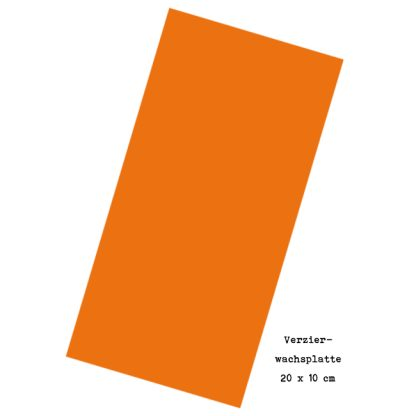 "Verzierwachsplatte ""Orange"""