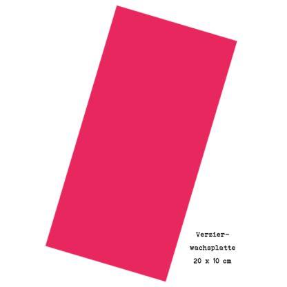 """Verzierwachsplatte """"Pink"""""""