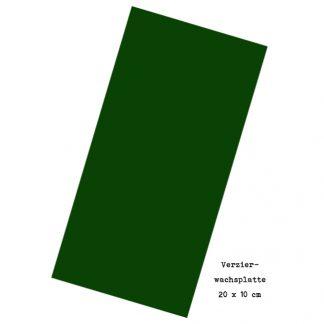 """Verzierwachsplatte """"Tannengrün"""""""