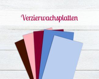 Verzierwachsplatten einfarbig