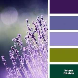 """5 Verzierwachsplatten im Set """"Lavendel"""""""