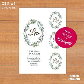 Dein Design auf Kerzenfolie - Format DIN A4 - Designe Dein Wunschmotiv
