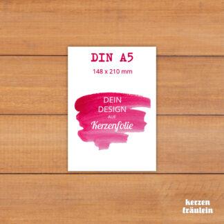 Dein Design auf Kerzenfolie im Format DIN A5 - kerzenfräulein