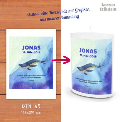 Dein Design auf Kerzenfolie - Format DIN A5 - Designe Dein Wunschmotiv