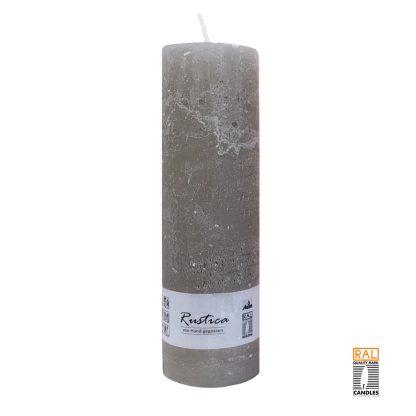 Kerzenrohling mit rustikaler Oberfläche (taupe) 25x7 cm