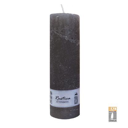 Kerzenrohling mit rustikaler Oberfläche (grau) 25x7 cm