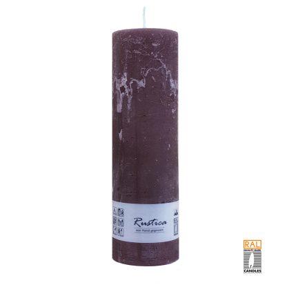 Kerzenrohling mit rustikaler Oberfläche (schoko) 25x7 cm