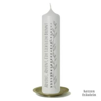 """Adventskerze Kalenderkerze """"Advent, Advent..."""" 25x5 cm - kerzenfräulein"""