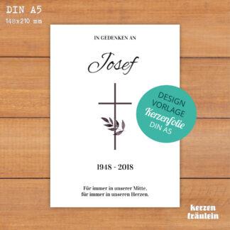 """Design-Vorlage Trauerkerze """"Für immer in unserer Mitte"""" DIN A5 - kerzenfräulein"""