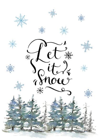 """Weihnachtskerze """"Let It Snow""""- kerzenfräulein"""