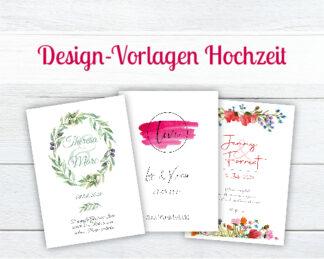 Design-Vorlagen für Hochzeitskerzen