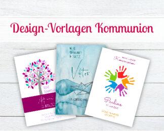 Design-Vorlagen für Kommunionkerzen