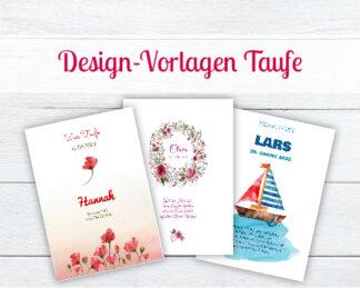 Design-Vorlagen für Taufkerzen
