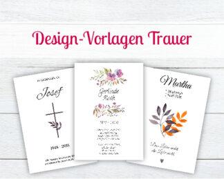 Design-Vorlagen für Trauerkerzen